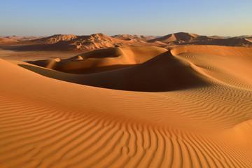 Sand dunes in Rub al Khali desert, Dhofar, Oman