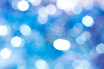キラキラなボケ背景 白水色青紫色