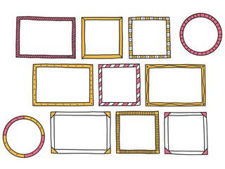 Frame doodle set.