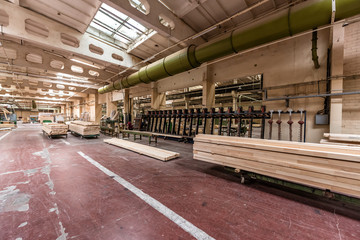 Workshop of the woodworking plant