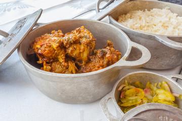 repas créole, cari poulet