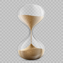 sandglass on a transparent background