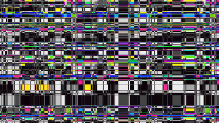 Glitch background. Computer screen error. Digital design concept. Pixel noise. HDTV no signal. Video game glitch. Television fail. Data decay. Technical problem grunge wallpaper.