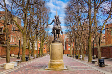 Paul Revere Monument Boston Wall mural