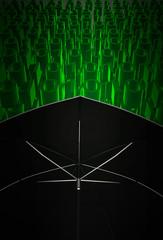 Protezione informatica, antivirus, concetto, illustrazione 3d