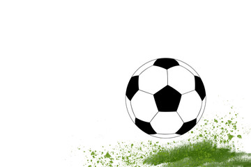 Football symbol soccer with grass illustration template