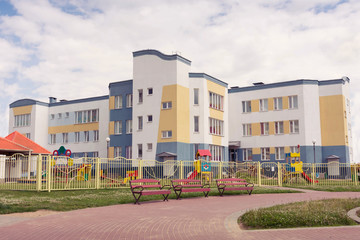 The building of a kindergarten.