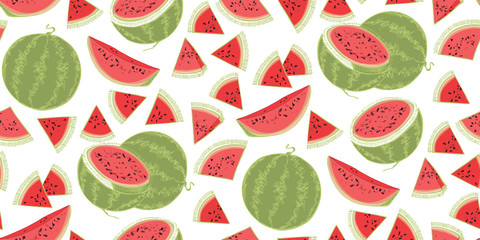 Sweet watermelon. Summer print with watermelon. Summer berry.