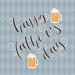 Happy Father's Day vector hand lettering