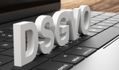 3D Tastatur DSGVO weiss