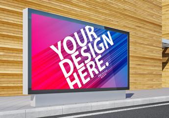 Advertising Kiosk Lightbox Mockup