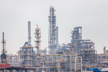 Oil and gas refinery industrial.