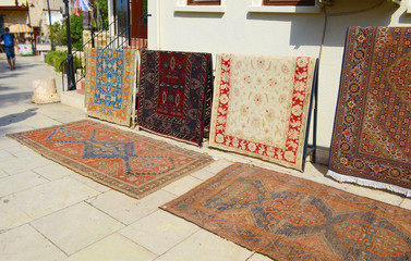 Sale of old carpets in the easten town