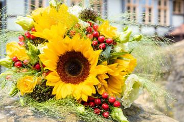 Brautstrauss Sommerblumen Brautstrauß