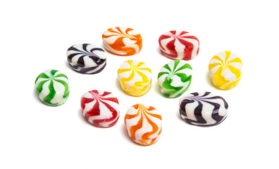 Milk fruit candy isolated