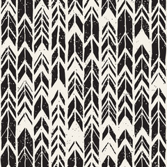 Vector seamless freehand pattern. Doodle monochrome print with hand drawn texture. Trendy graphic design.