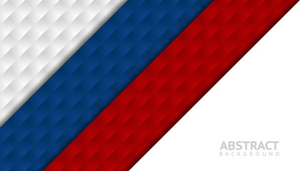 Geometric abstract background. Graphic template with Russia flag colors for cover design, brochure, book design, poster, wallpaper, backdrop.