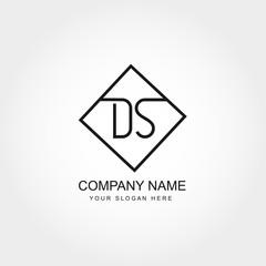 Initial Letter DS Logo Vector Design