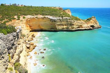 Wild Atlantic Coast in Algarve, Portugal