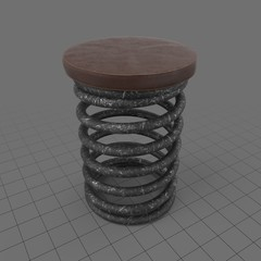 Upcycled coil stool