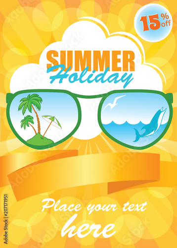 661f43846b7 Sunny Summer Vacation Template