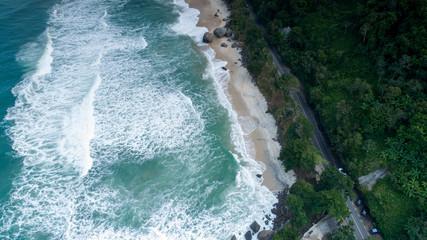 Beach from sky