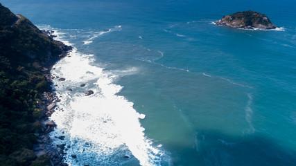 Beach and island in Rio de Janeiro - Grumari