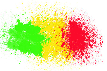reggae color with concrete wall background
