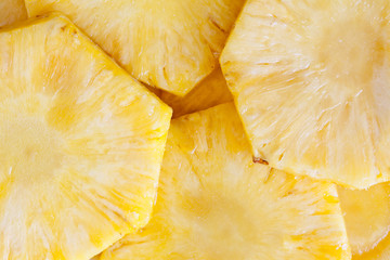 Pineapple Slices Close Up