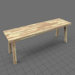 Scandinavian bench