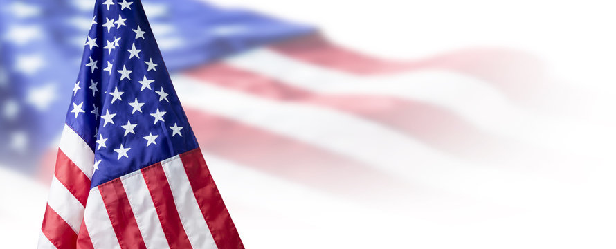 USA or American flag background with copy space
