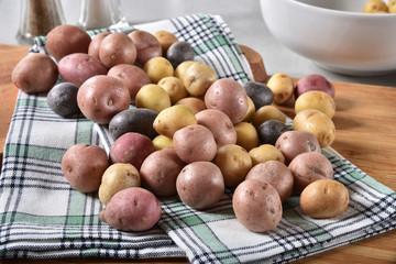 Assorted baby potatoes