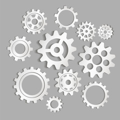 Set of gears. Vector icon
