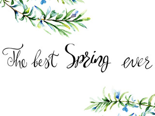 Watercolor illustration of Rosemary with title the best spring ever