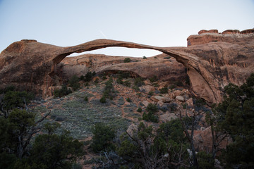 Printed roller blinds Deep brown Landscape Arch in Arches National Park, Utah.