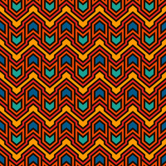 Seamless pattern with arrows and pointers. Chevrons wallpaper. Tribal and ethnic motif. Native americans ornament