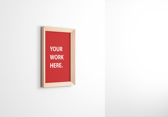 Wooden Framed Canvas Mockup