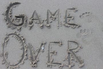 word, sand, beach