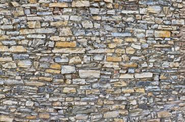 schöne alte  Natursteinmauer
