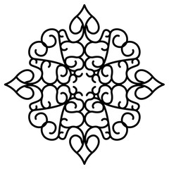 Isolated arabesque pattern
