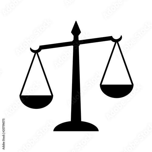 Law Scales Of Justice Icon Symbol Of Law Measuring Legal Cases