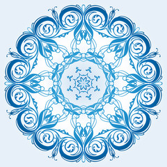 light blue element of the ornament