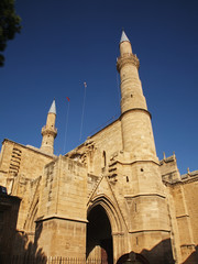 Selimiye Mosque (St. Sophia Cathedral) in Nicosia. Cyprus