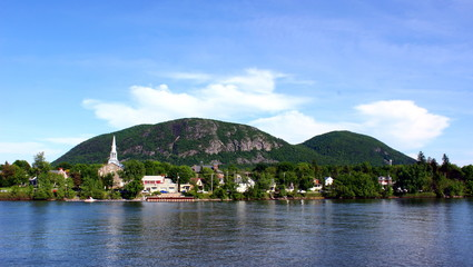 Mont St-Hilaire, Quebec from across Richelieu River