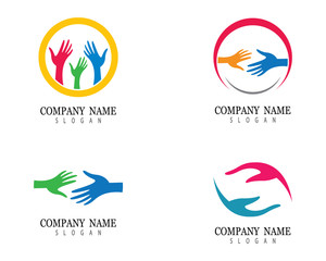 Hand help logo template vector icon