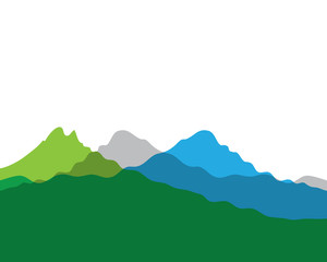 Mountain vector icon illustration