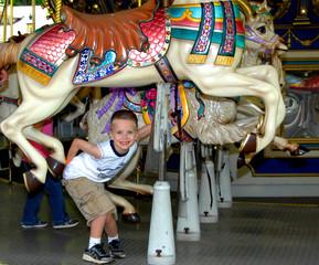 Carousel Ride for a Little Boy