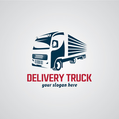 Delivery Truck Logo Designs Template