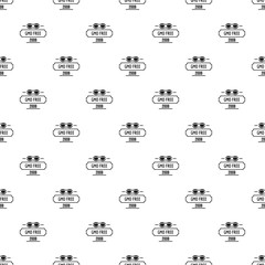 Gmo free health pattern vector seamless repeat for any web design