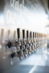 Beer taps, stainless steel, micro beer brew pub
